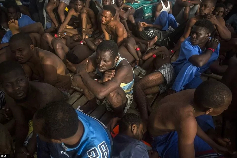 Many of the migrants were from sub-Saharan Africa. Photo: AP