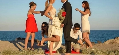Would YOU walk on glass to get married? Maybe it will become a hot new trend! (photos)