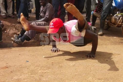 Eldoret man twists body in weird positions for a living