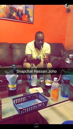 See a rare photo of Hassan Joho smoking shisha