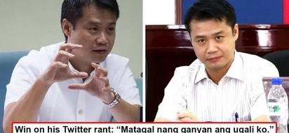 Ni konting pagsisisi wala? Sen. Win Gatchalian defends himself from bashers, 'Matagal nang ganyan ang ugali ko'