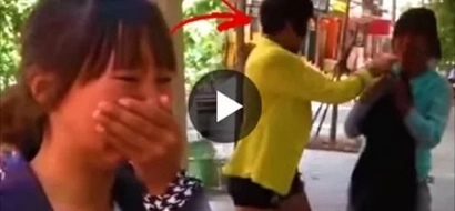 WATCH: Mistress brutally attacks wife while husband watches nearby