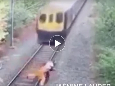 Nakakamangha! Real live hero saves man from being crushed by speeding train
