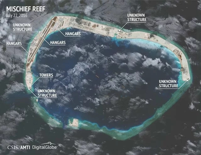 Photos show China is constructing hangars in West PH Sea
