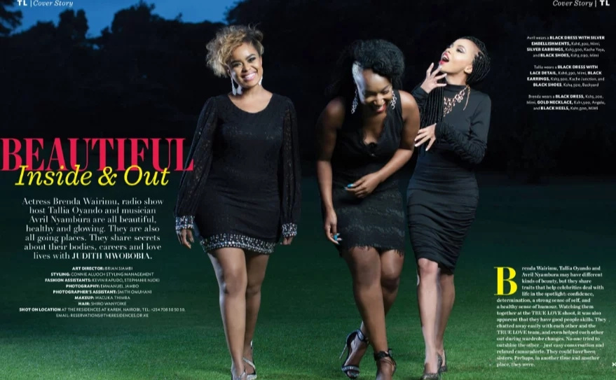 Three hot ladies take over True Love Magazine's cover