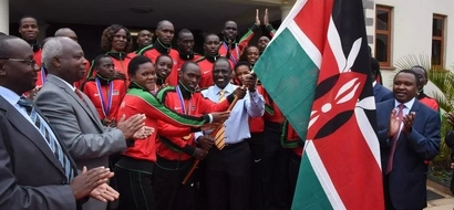 IN PHOTOS: Grand Arrival Of IAAF Kenya Team Almost Eclipsed By Obama-mania