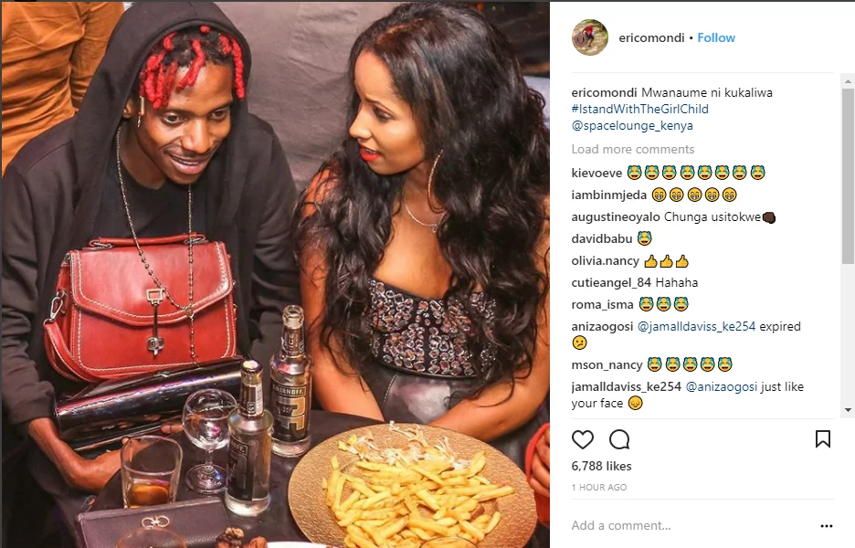 Comedian Eric omondi's fans lash out at him after he's spotted carrying his lover's handbag