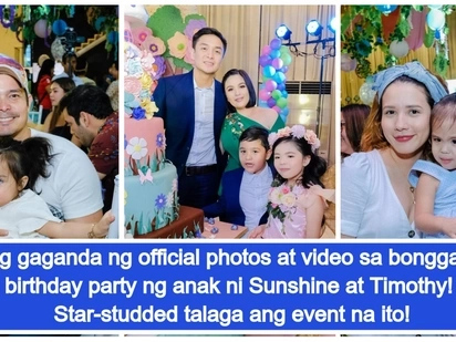 Daming celebrities na nagkita! Official photos and video from the 7th birthday of Sunshine Dizon and Timothy Tan's daughter Doreen