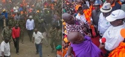 Raila Odinga apewa baraka tele na jamii ya Wamaasai siku chache kabla ya uchaguzi mkuu wa Agosti 8