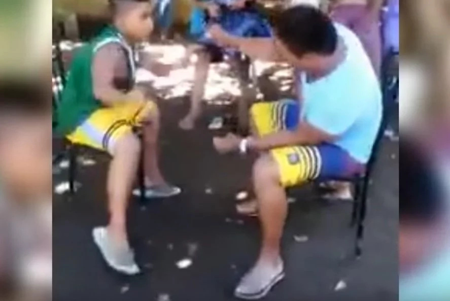 Hilarious kid shocked after friends pulled off crazy prank