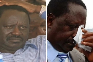 Angry youth heckle Raila and team in Narok, destroy vehicle