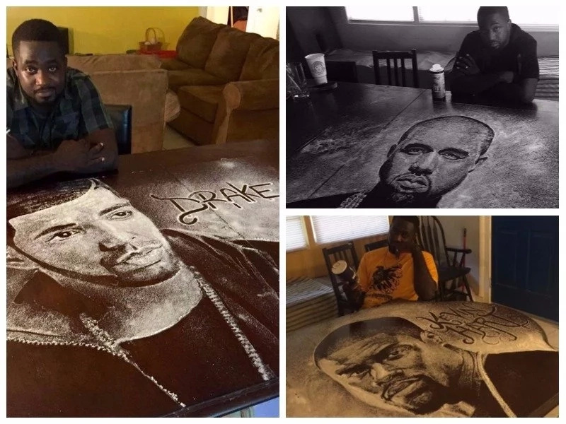 Teen takes internet by storm with his mind-blowing celebrity portraits