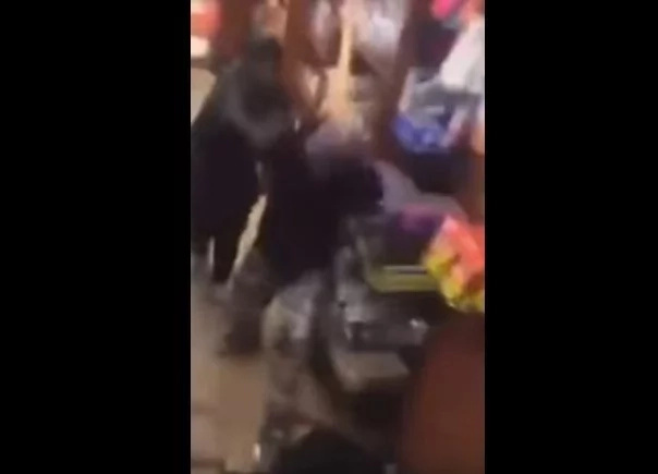 Store Owner Beats Guy That Stole Bag Of Chips With A Stick