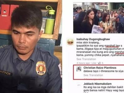 Huli ka ngayon mamang pulis! Cop who sexually harassed female student online denies accusation
