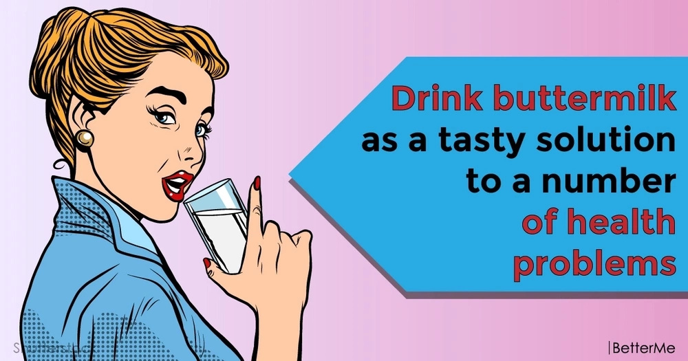 Drink buttermilk as a tasty solution to a number of health problems