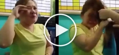 Pinay caught stealing at a supermarket gets embarrassed and physically abused!