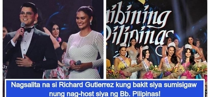 Kaya naman pala sumisigaw! Richard Gutierrez speaks up on criticisms about his Bb. Pilipinas hosting stint