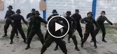 VIDEO: Police officers dancing to the tune of trumpets challenge has gone viral