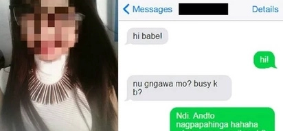 Bored girl texts boyfriend and gets 'entertained' in the most unexpected way