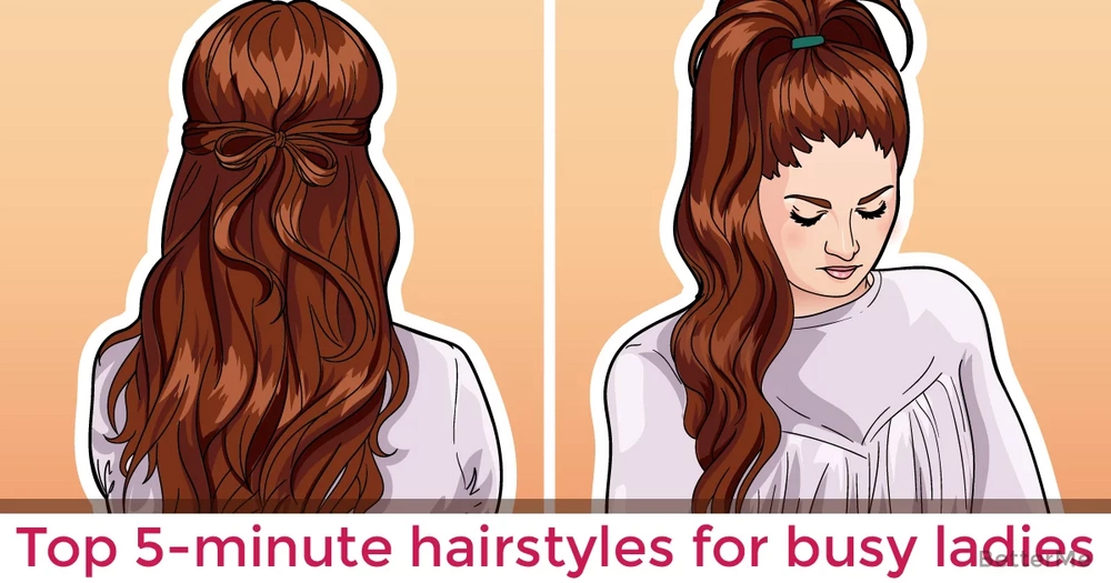 Top 5-minute hairstyles for busy ladies