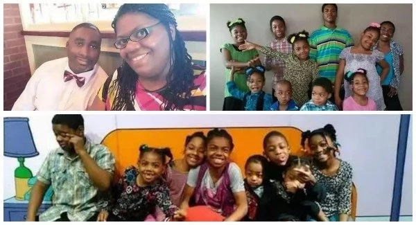 Meet woman who has 10 children and gave birth to 3 sets of twins (photos)