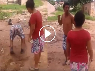 Yari kay misis! Angry wife hits husband for being too drunk
