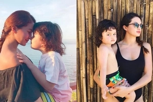Nose to nose pa ang mag-ina! Sarah Lahbati shares beautiful moment with Zion