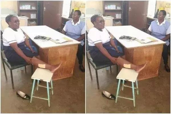Alaaa! Nyani amuuma muuguzi mguu katika Hospitali ya Murang'a