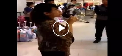 This singing pregnant Pinay shocked netizens after belting 'Love on Top' effortlessly in a mall