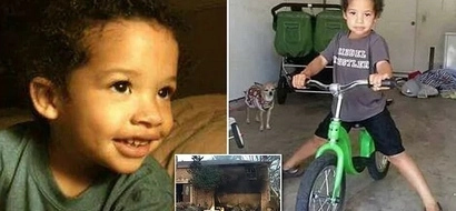 Tragedy! Boy, 5, is KILLED in fire he accidentally started with a lighter (photos)