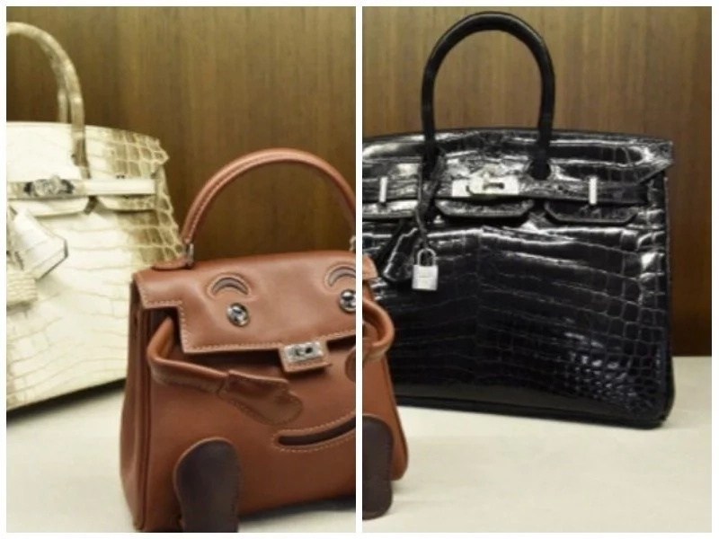 See why this handbag made of crocodile skin fetched jaw-dropping Ghc1.6m (photos)