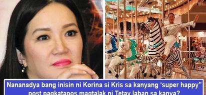 Nananadyang inisin si Tetay? Korina Sanchez todo post ng napakasayang pic sa merry-go-round matapos magtalak si Kris Aquino laban sa kanya