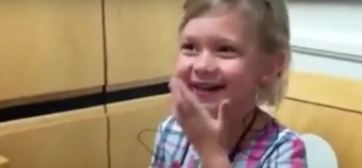 4-year-old girl who was born deaf has priceless reaction when she hears her own voice