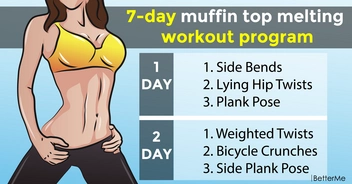 7-day muffin top melting workout program