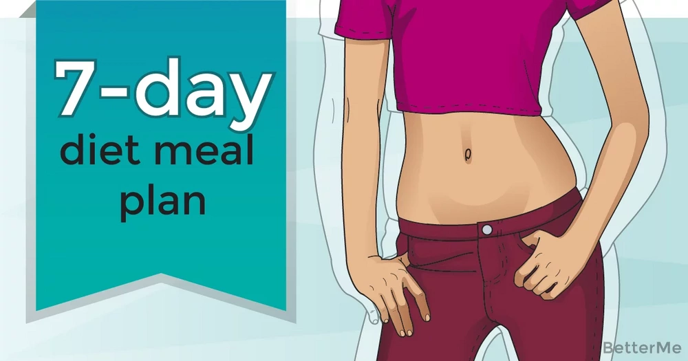 A 7-day diet meal plan that can help you lose up to 3 pounds