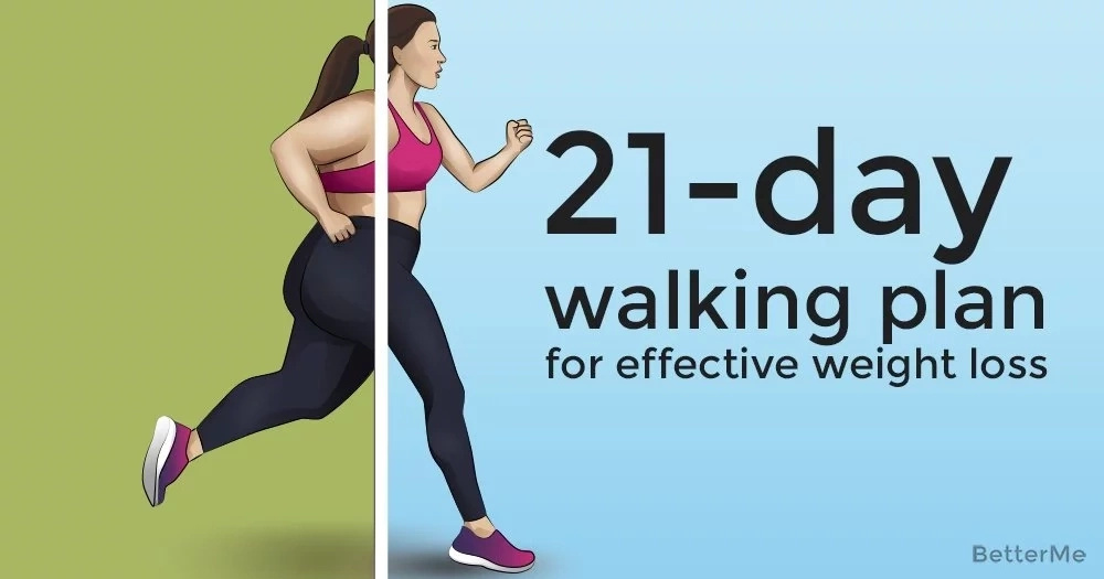A 21-day walking plan for effective weight loss