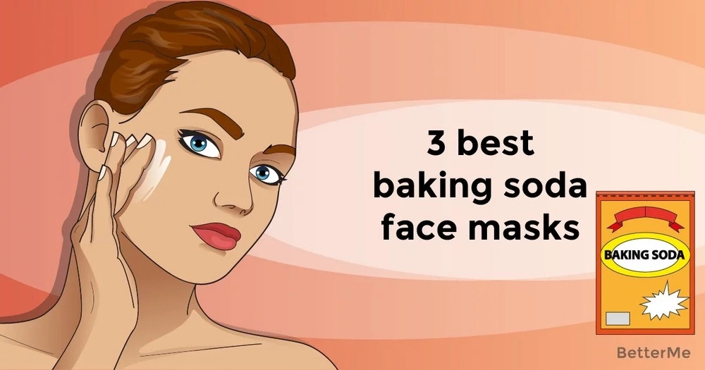 3 best baking soda face masks