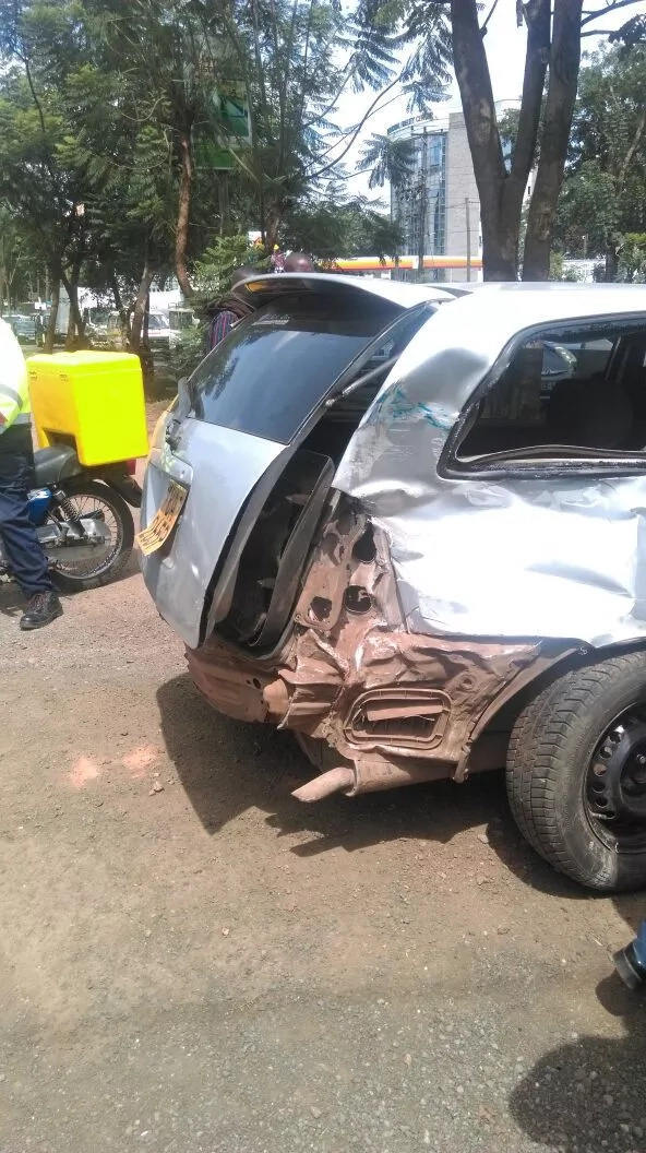 Photos: Accident on Waiyaki way