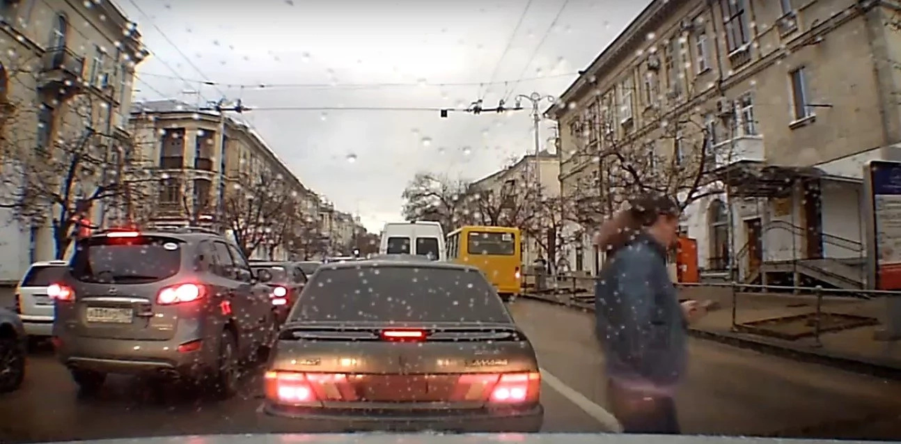 Watch out! Guy Crosses Street, Gets SMASHED By Bus