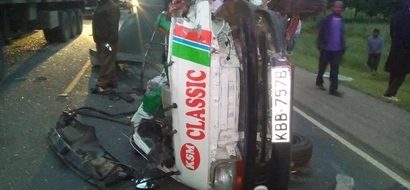 Grisly road accident at Salgaa black-spot claims lives (photos)