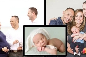 This gay couple wanted to have a baby. Pictures of their bonding with surrogate mother and their baby is priceless!