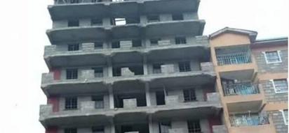 Panic as four storey building collapses in Kariobangi