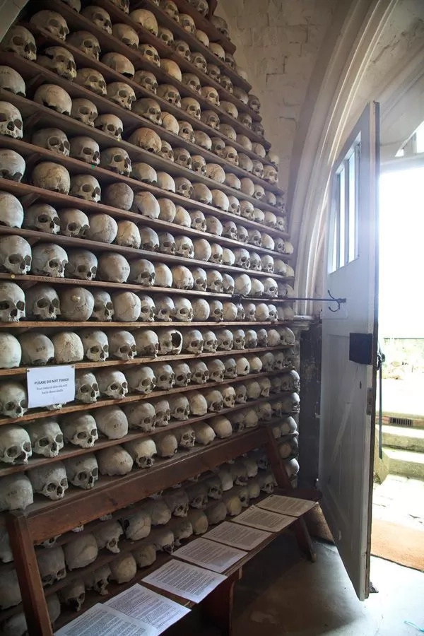A church with a collection of human skulls and skeletons! Hard to believe, but yes, it actually exists!