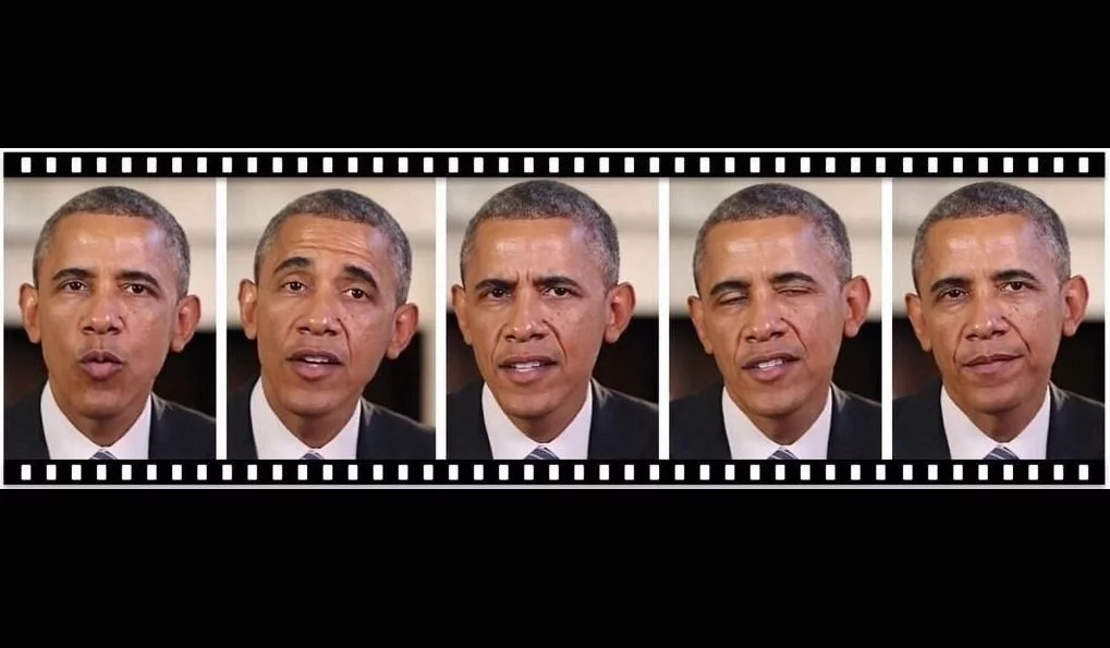 The AI can now match any audio of Obama with a video of him speaking. Photo: Engadget