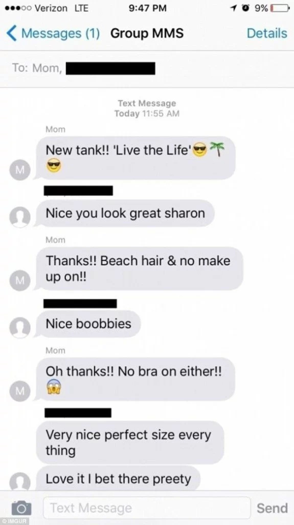 Mother adds daughter to sexchat with boyfriend!