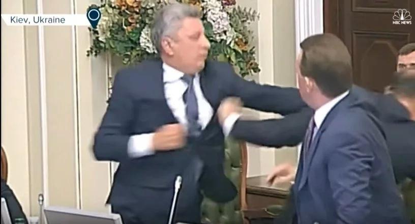 Ukrainian Politicians Begin Fighting During A Parliament Meeting