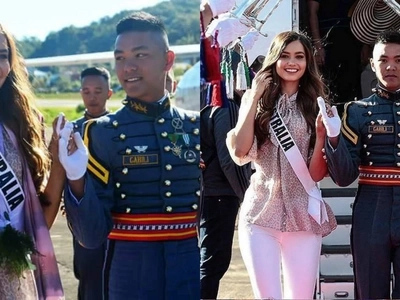 Miss Universe Australia and PMA Cadet spotted getting 'cheesy' in Baguio City