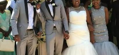 LOVELY! Comedian Njugush says I DO in a lovely wedding in Runda