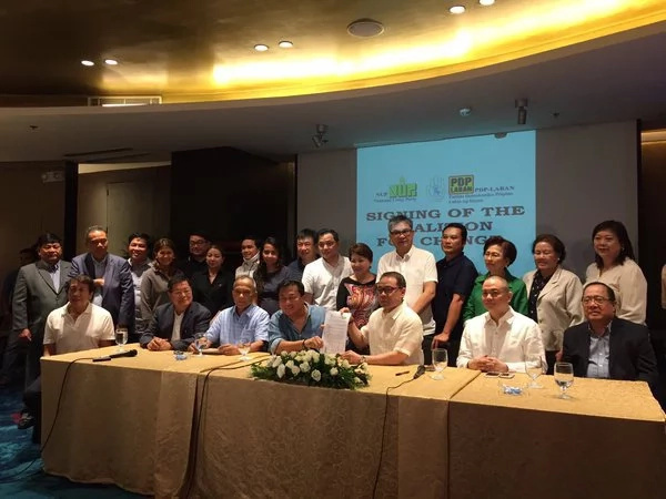 NUP inks formal alliance with Duterte's PDP-Laban