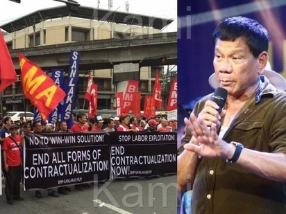Change scamming! Feisty labor groups protest 100Daysof Duterte
